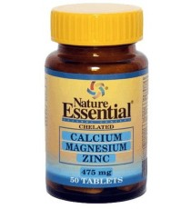Calcio, Magnesio y Zinc 475mg - 50 Comprimidos - Nature Essential