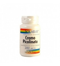 Picolinato de Cromo - Chromium Picolinate 200 - 50 Tabletas - Solaray
