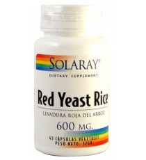 Red Yeast Rice 600mg - 45 Cápsulas - Solaray