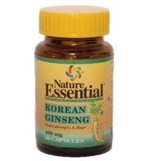 Ginseng Koreano 400mg - 50 Perlas - Nature Essential