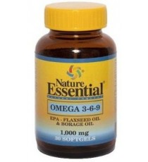 Omega 3-6-9 1000mg - 30 Perlas - Nature Essential