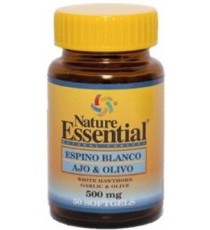 Espino Blanco + Ajo + Olivo 500mg - 50 Perlas - Nature Essential